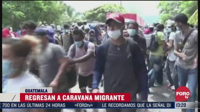 se disuelve caravana migrante en guatemala