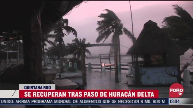 se recuperan tras paso de huracan delta en quintana roo