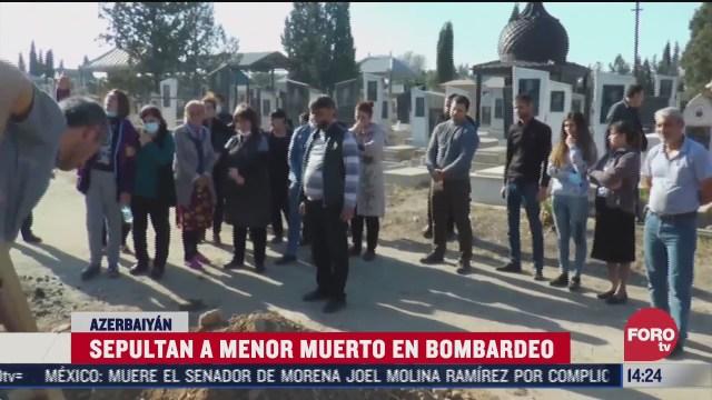 sepultan a menor victima de bombardeos en azerbaiyan