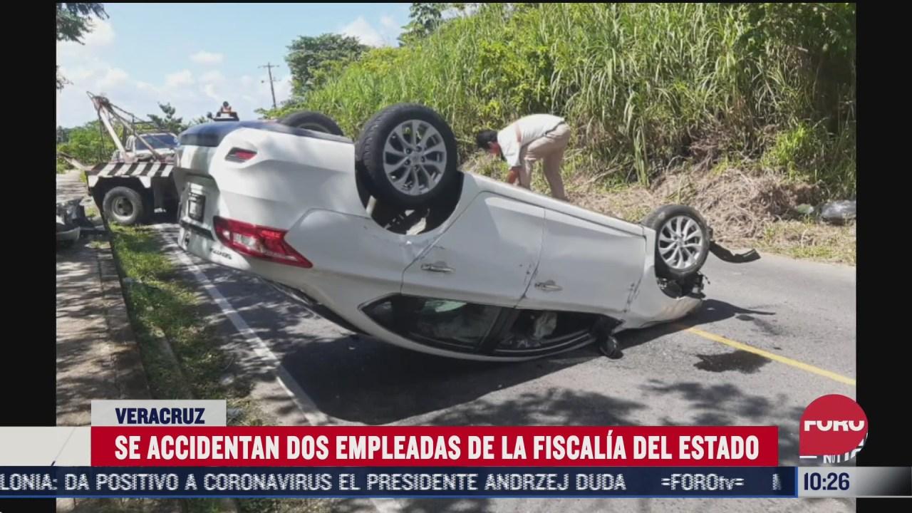 sufre accidente automovilistico fiscal del municipio nanchital en veracruz
