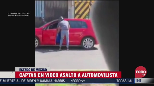 sujetos asaltan a automovilista en estado de mexico