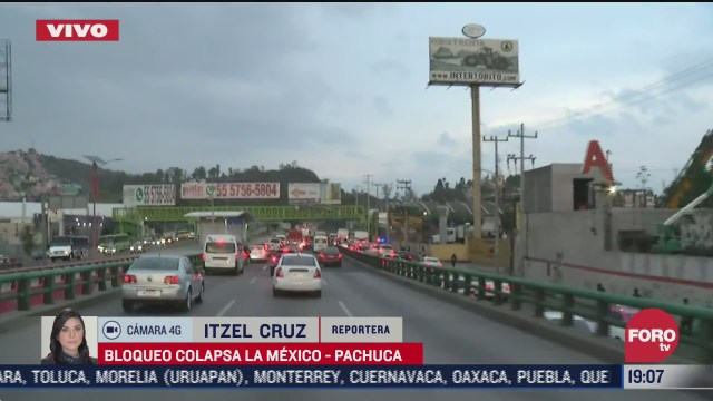 taxistas bloquean la mexico pachuca hoy