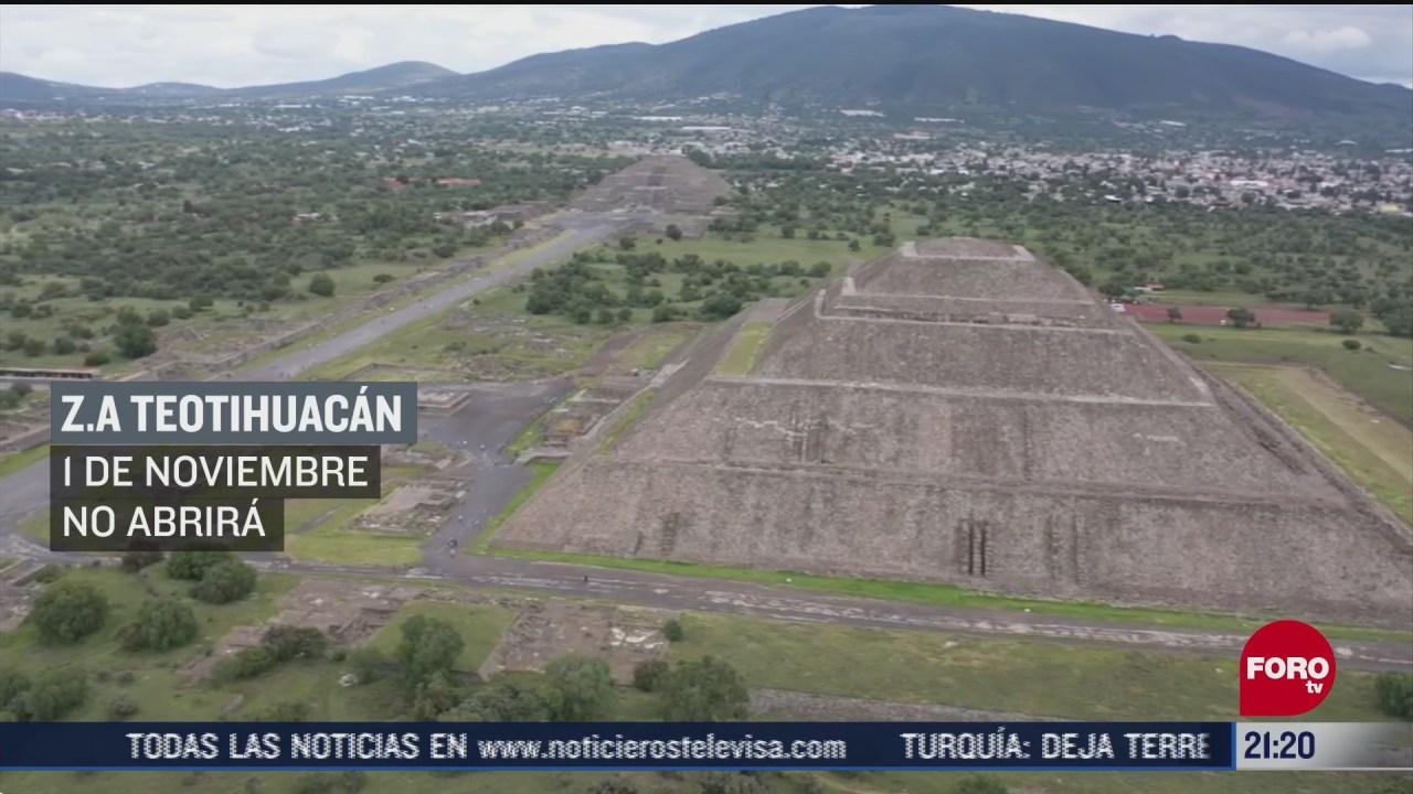 teotihuacan cerrara sus puertas el 1 de noviembre