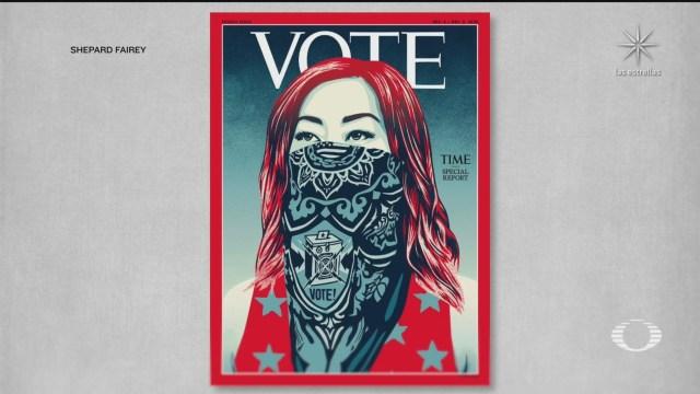 TIME cambia su logotipo por las palabras VOTE