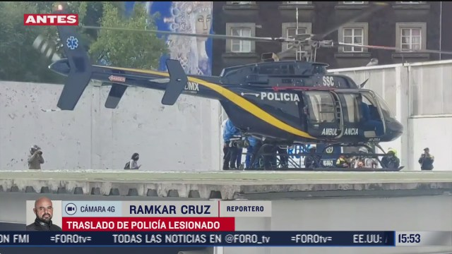 trasladan en helicoptero a policia que resulto lesionado en intento de asalto en la cdmx
