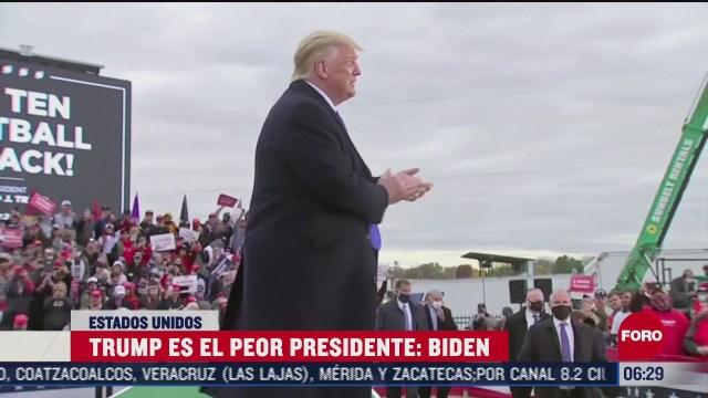 trump es el peor presidente biden
