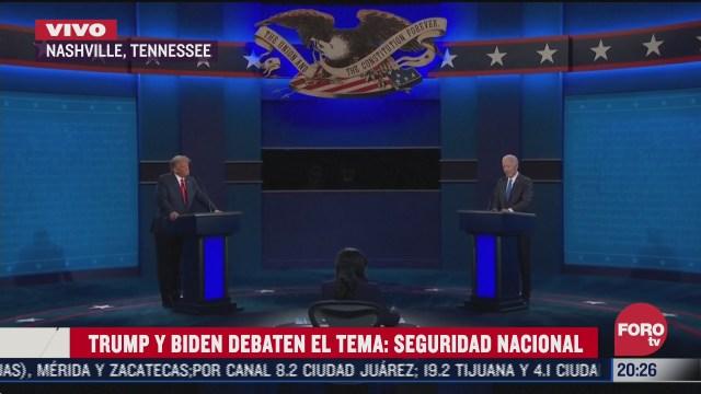 trump y biden debaten sobre intervencion de rusia e iran en eleccion presidencial