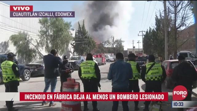 un bombero resulta lesionado durante incendio en cuautitlan izcalli edomex