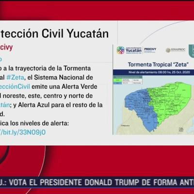 Yucatán emite alerta por tormenta tropical 'Zeta'
