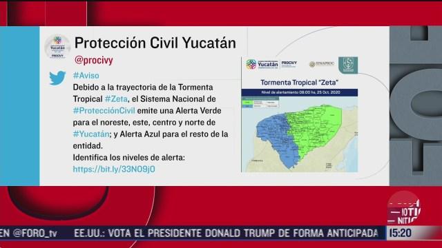 yucatan emite alerta por tormenta tropical zeta