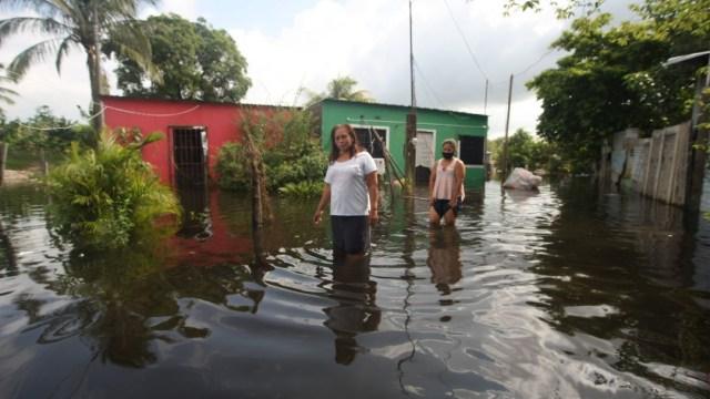 Alerta en Tabasco por nuevos encharcamientos a causa del frente frío 11 y huracán Eta