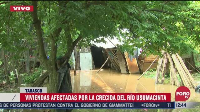 alerta maxima en tabasco por desbordamiento del rio usumacinta