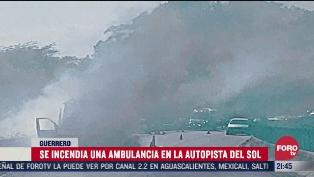 ambulancia se incendia en la autopista del sol
