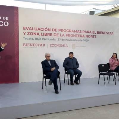 El presidente López Obrador realiza este fin de semana una gira por Baja California