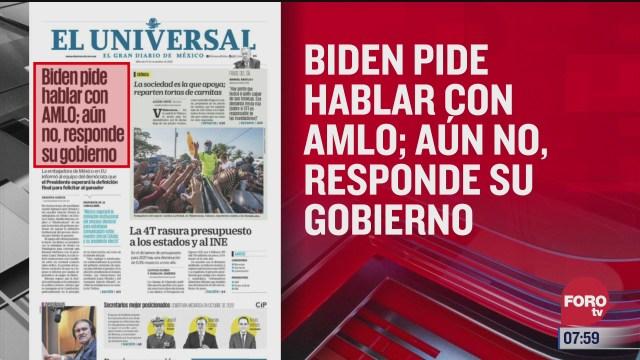 analisis de las portadas nacionales e internacionales del 11 de noviembre del