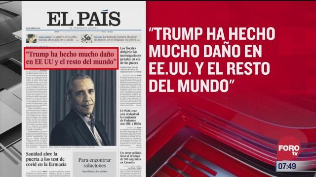 analisis de las portadas nacionales e internacionales del 19 de noviembre del