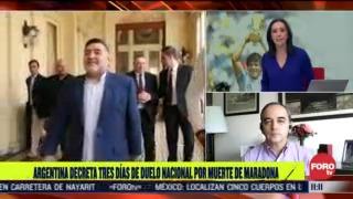 argentina decreta tres dias de duelo nacional por muerte de maradona