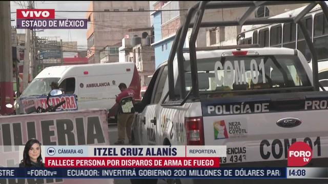 asesinan a una persona en calles del estado de mexico