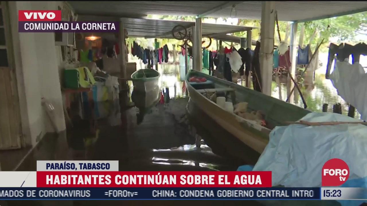autoridades realizaran censo para conocer danos tras inundaciones en tabasco
