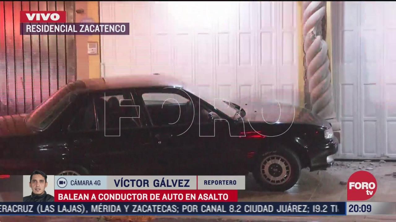 balean a conductor durante presunto intento de asalto en cdmx