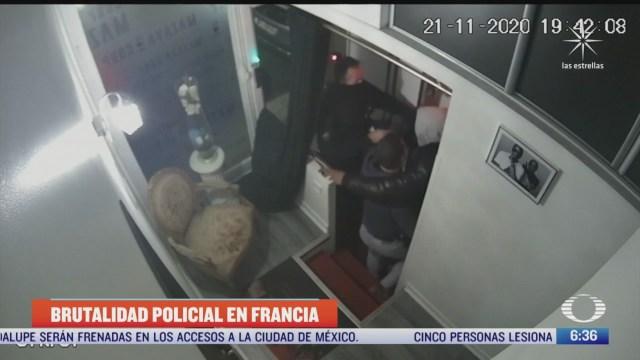 camaras captan nuevo caso de brutalidad policial en francia