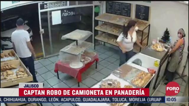 camaras de vigilancia graban asalto a clienta de panaderia en guadalajara