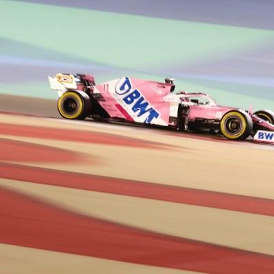 El piloto mexicano de Fórmula 1 Sergio Pérez en el Gran Premio de Bahrein
