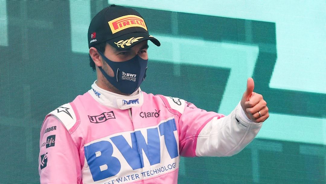 El piloto mexicano Sergio 'Checo' Pérez terminó segundo en el Gran Premio de Turquía. (Foto: EFE)