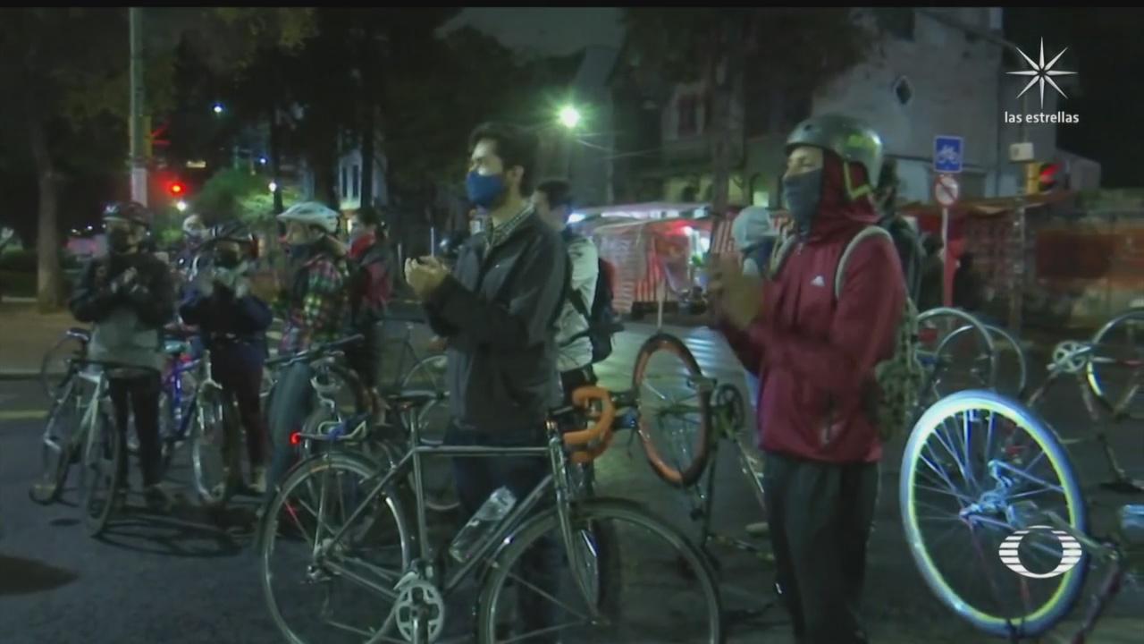 ciclistas de la cdmx exigen justicia para mario