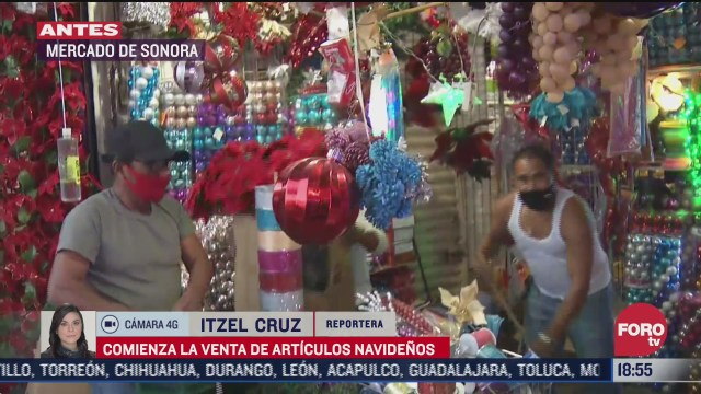 comienza venta de articulos navidenos en el mercado de sonora de la cdmx