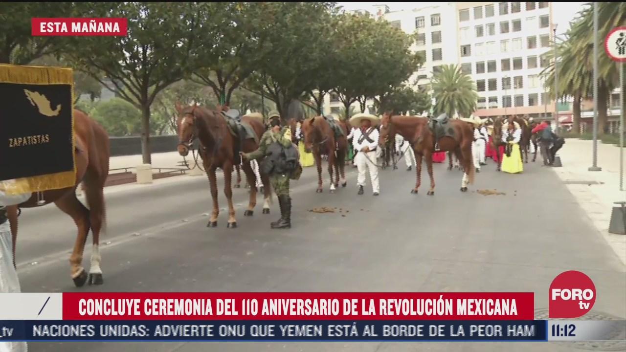 concluye ceremonia por el 110 aniversario de la revolucion mexicana