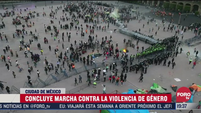 concluye marcha contra la violencia de genero en cdmx