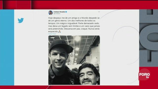 cristiano ronaldo lamenta en redes sociales la muerte de maradona