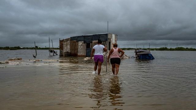 Daños del huracán Delta en Yucatán