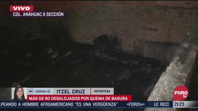 desalojan a 60 personas por incendio de basura en la cdmx