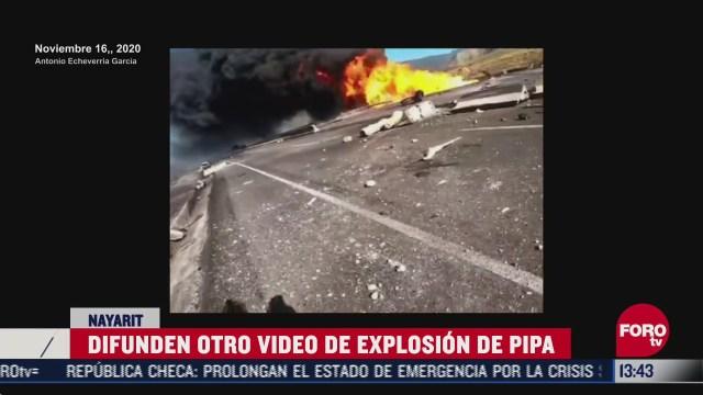 difunden nuevo video de la explosion en autopista tepic guadalajara
