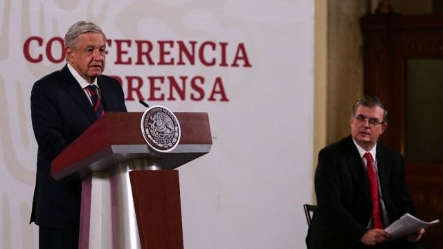 El presidente López Obrador y el canciller Marcelo Ebrard