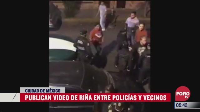 es abuso de autoridad grita mujer en plena rina con policias de cdmx