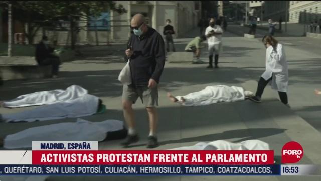 espanoles piden acciones contra el cambio climatico