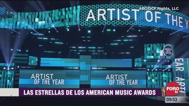 espectaculosenexpreso las estrellas de los american music awards