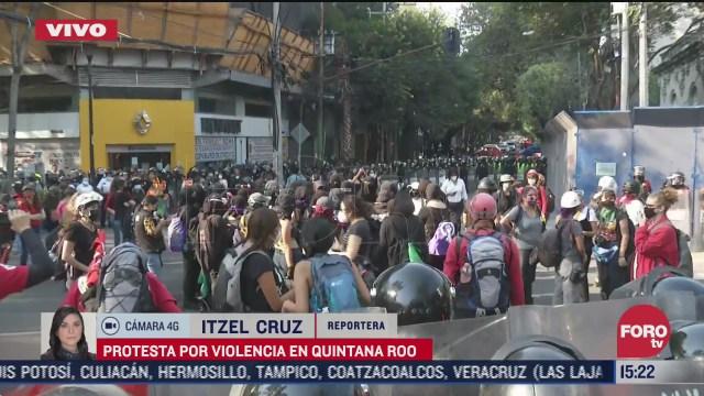 feministas llegan a la representacion del estado de quintana roo en la cdmx