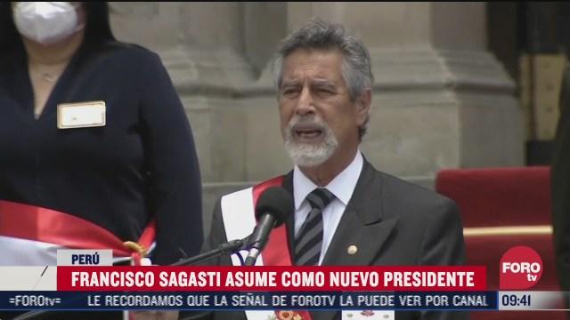 francisco sagasti es investido como nuevo presidente de peru