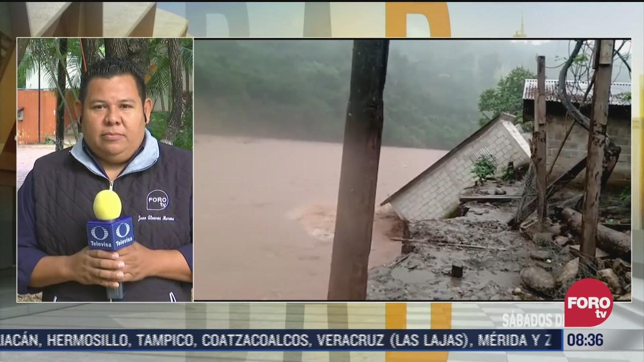 frente frio 13 provoca desbordamiento de rios y danos a viviendas en chiapas