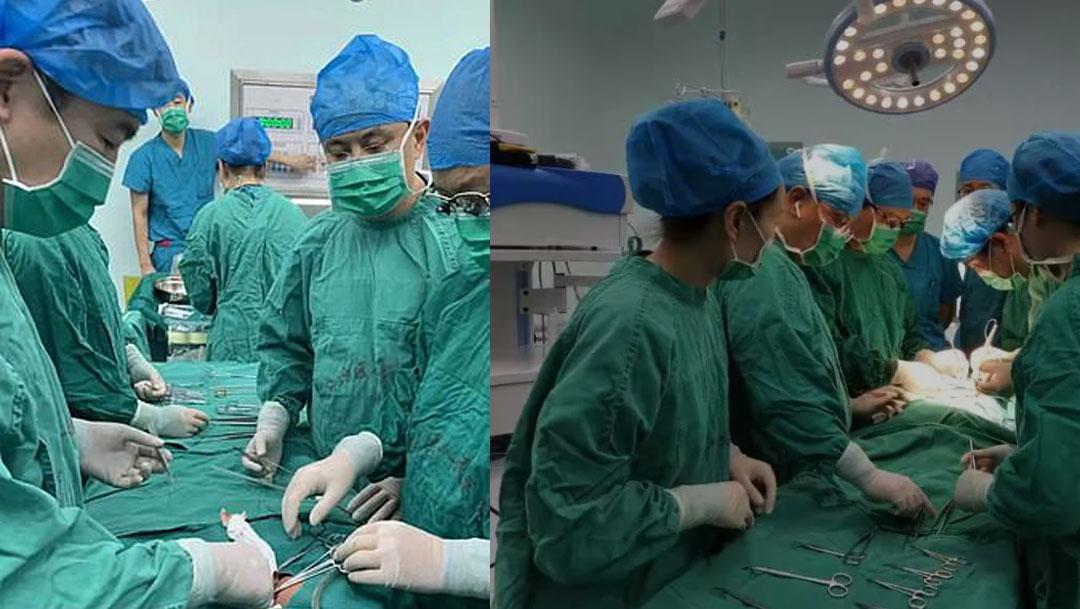 En China, operaron a unas gemelas que estaban unidas por el estómago y fueron sometidas a una cirugía a pesar de tener un día
