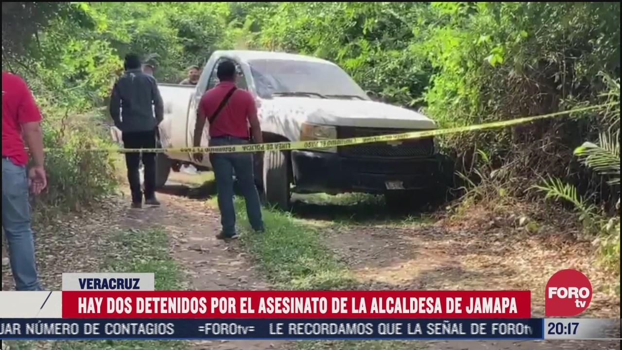 hay dos detenidos por homicidio de alcaldesa de jamapa veracruz