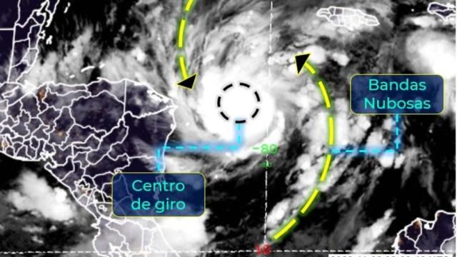 Mapa del huracán Eta