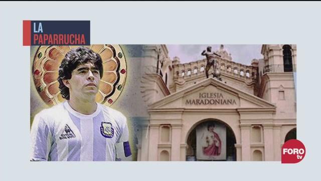 Iglesia de Maradona reúne a 40 mil fanáticos del mundo, la paparrucha del día
