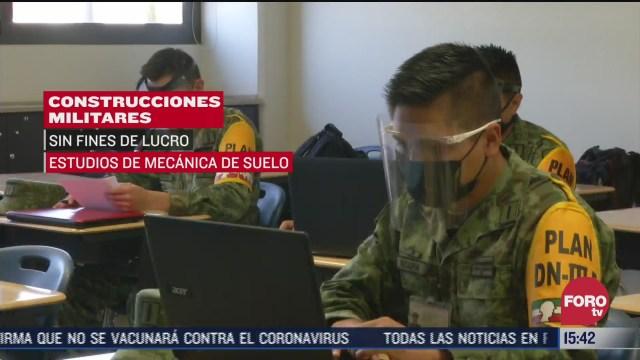 ingenieros constructores militares evitan altos costos en construcciones del ejercito
