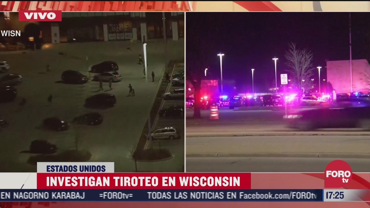 investigan tiroteo en centro comercial de wisconsin