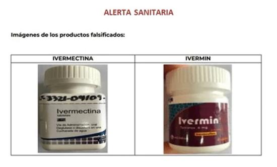 Ivermectina Ivermin Medicamentos Falsificados Cofepris